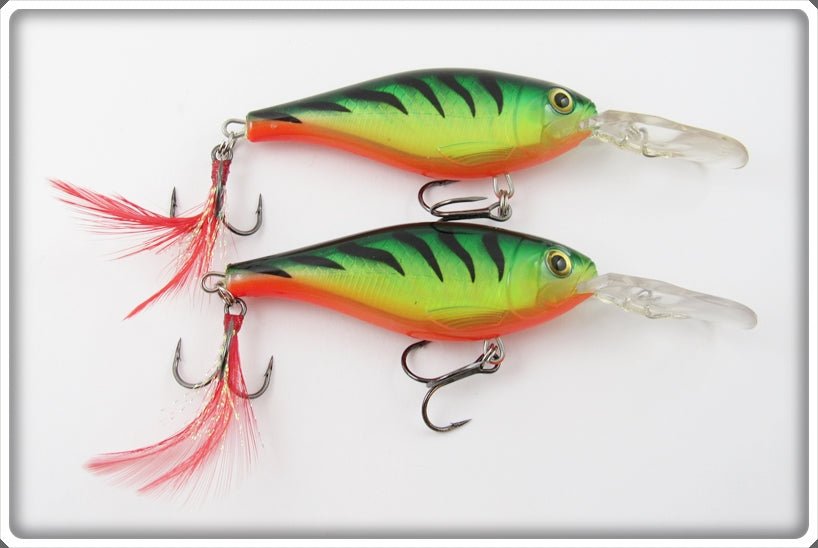 Rapala Fire Tiger Shad Rap Pair