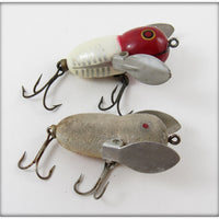 Heddon Red White Shore & Mouse Tiny Crazy Crawler Pair