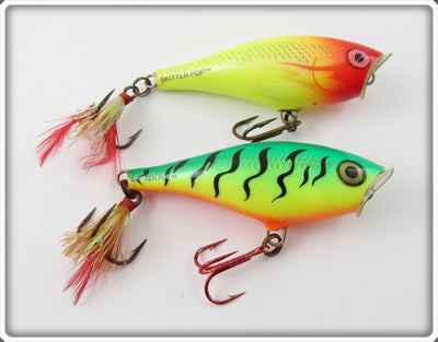Rapala Chartreuse & Fire Tiger Skitter Pop Pair