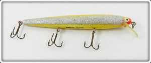 Heddon Yellow W/ Silver Flash Wood Cobra