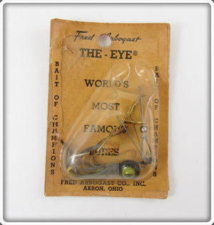 Fred Arbogast Black & Yellow The Eye On Card
