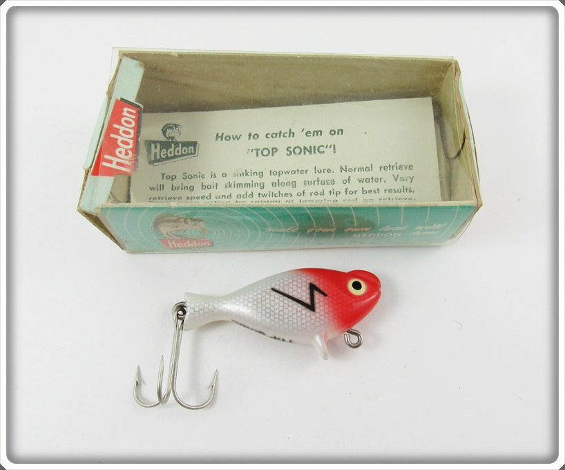 Heddon Red Head Top Sonic In Correct Box For Sale | Lure Lagoon
