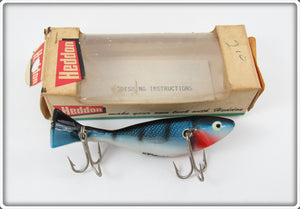 Heddon BSX Blue White Black Prowler In Correct Box 7025