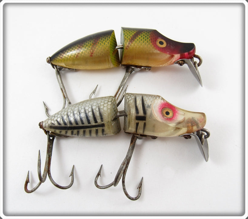 Heddon Perch & Silver Shore Jointed River Runt Spook Sinker Pair