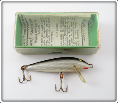 Vintage Rapala Silver & Black Countdown CD-7 S Lure In Box