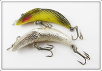 Vintage Eddie Pope Chrome & Yellow Black Scale Fishback Lure