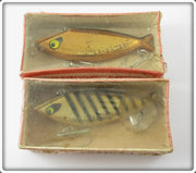 Vintage Smithwick Gold Chrome & Gold Black Stripes Water Gater Lure