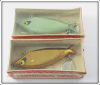 Vintage Smithwick Gold Chrome & Blue Scale Water Gater Lure Pair