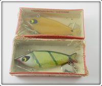 Vintage Smithwick Bone & Perch Water Gater Lure Pair