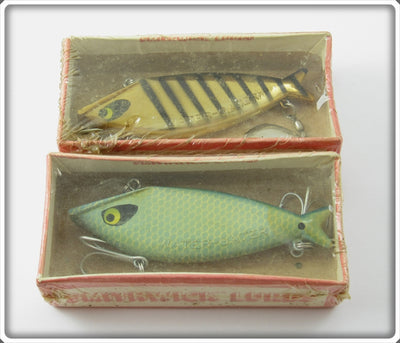 Vintage Smithwick Blue Scale & Gold Black Stripes Water Gater Lure Pair