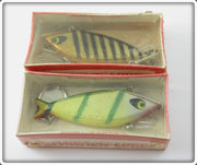 Vintage Smithwick Perch & Gold Black Stripes Water Gater Lure Pair