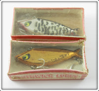 Vintage Smithwick Gold Chrome & Chrome Coachdog Water Gater Lure Pair
