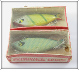 Vintage Smithwick Blue Scale & Perch Water Gater Lure Pair