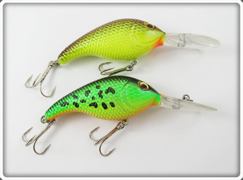 Unknown Green Crawdad & Yellow Lucky Craft Type Pair