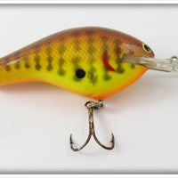 Vintage Bagley Crayfish On Chartreuse DB3 Divin' B 3 Lure