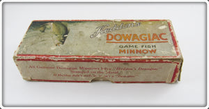 Heddon Dowagiac Game Fish Minnow Empty Box