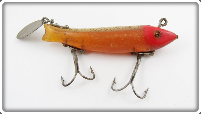 Heddon Speckled Red Head Spook Super Dowagiac