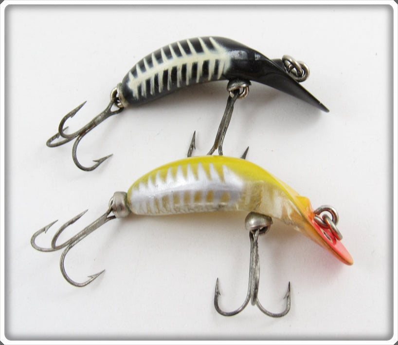 Heddon Yellow Shore & Black Shore Tiny Tad Pair
