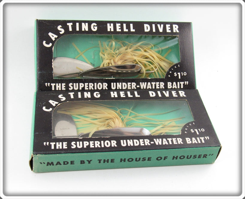 Houser Casting Hell Diver Bait Pair Unused In Boxes