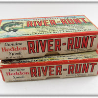 Heddon Empty River Runt Box Pair: 9110M & 9110L
