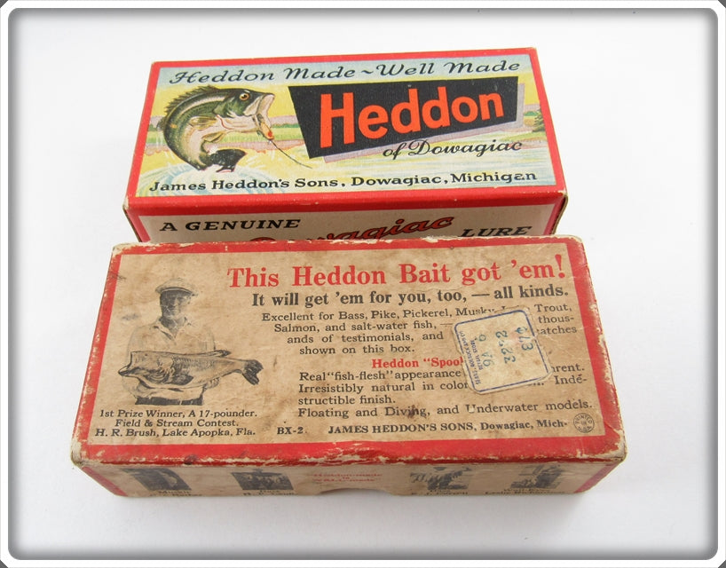 Heddon Empty River Runt Brush Box & Tadpolly Spook Box