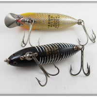 Heddon River Runt Spook Floater Pair: Black Shore & Yellow Shore