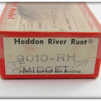 Heddon Red Head White Midget River Runt In Correct Box
