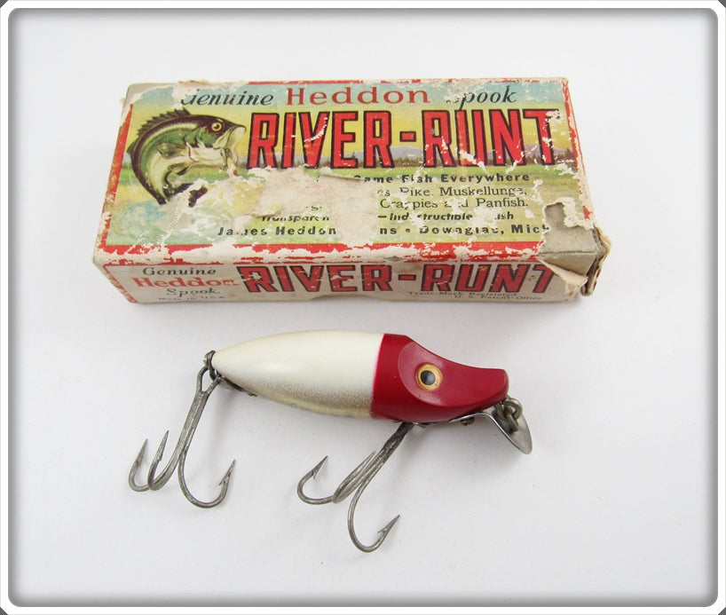 Heddon Red & White River Runt Spook Sinker In Correct Box