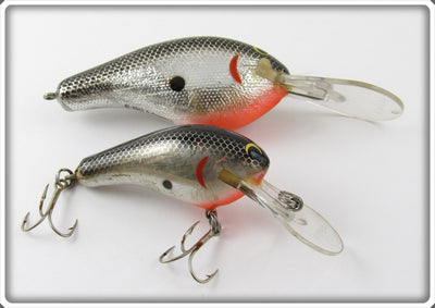 Vintage Bagley Black On Silver Chrome Lure
