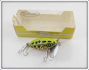 Arbogast Seein's Believin' Natural Frog Jitterbug In Box