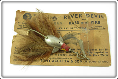 Vintage Tony Accetta River Devil Lure On Card