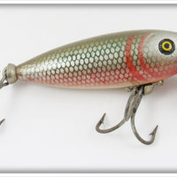 Vintage Pflueger Red Side Scale Finish Mustang Lure