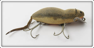 Vintage Heddon Grey Flocked Meadow Mouse Lure