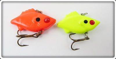 Mann's Bait Co Fluorescent Red & Yellow Hackleback Finn Mann Lure