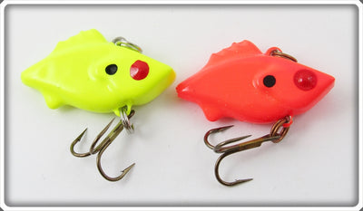 Mann's Bait Co. Fluorescent Red & Yellow Hackleback Finn Mann Lure