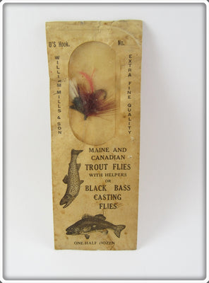 Vintage William Mills & Co Trout Fly Rod Lure In Package