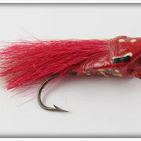 Vintage Peck's Red Flash Skitter Bug Fly Rod Lure