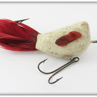 Vintage Jamison White & Red Coaxer Lure