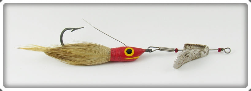 Vintage Weezel Bait Co Red & White The Weezel Lure