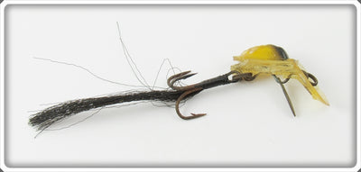 Vintage Kringfisher Co Yellow & Black Trail A Bait Lure