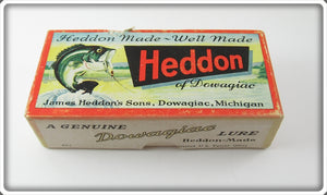 Vintage Heddon Yellow Shore Chugger Spook Empty Box 9540 XRY