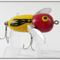 Vintage Heddon Yellow Red Head YRH Tiny Crazy Crawler Lure
