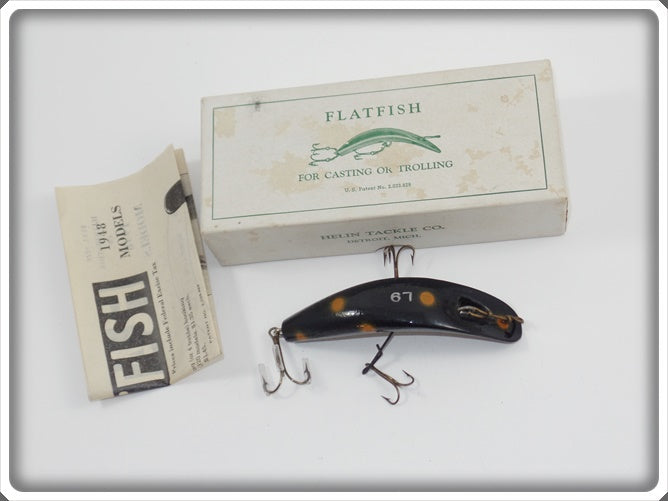 Helin L9 Black With Orange Spots Flatfish In Correct Box