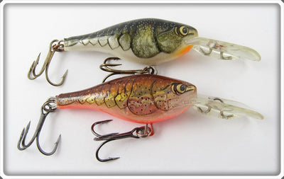 Rapala Natural Crawdad Shad Rap Lure Pair