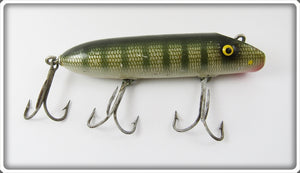 Vintage Best O Luck Green Striped Wobbler Lure