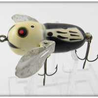 Heddon Black White Head Tiny Crazy Crawler