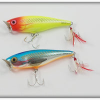 Rapala Skitter Pops Pair: Hot Clown & Silver Blue