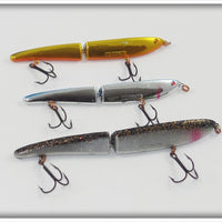 Heddon Zara Gossa Lot: Chrome, Gold Chrome, Black w/ Glitter