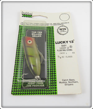 Heddon Perch Baby Lucky 13 Sealed On Card 2400 L