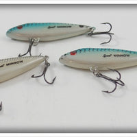 Cordell Rattlin Spot Minnow Lot: Blue & Shad
